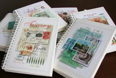Love the handmade, travel journal covers.