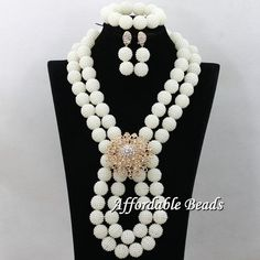 > CLICK IMAGE TO BUY < African Beads Jewelry Sets beaded Bridal Handmake Wedding Party Costume Jewelry Set Long Ball Weaving with flower hx051 ~*~ Find similar lovely pieces on  AliExpress.com. Just click the VISIT button. #AfricanBeadsJewelry