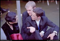 Clare May Ball 1999. Wow, maybe I'm wrong, but it seems like none else but Christian Coulson on this photo is hugged from behind by some guy. Interesting...