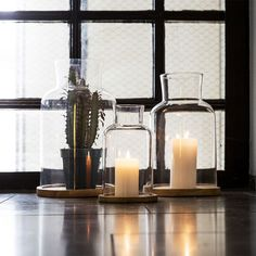 This Oval Oak Candleholder from Sagaform features a shapely glass container that sits onto of a lovely Oak base creating a lovely centrepiece for console, dining or coffee tables. Design3000, Shops, Glass Room, Royal Design, Glass Containers, Home Decor Kitchen, Fairy Lights, Solid Oak, Candlesticks