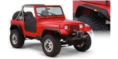 Bushwacker Jeep Flat Style Fender Flare - Set of 4 Jeep Wrangler Yj, Cj Jeep, Jeep Truck, Jeep Mods, Wrangler Unlimited, Accessoires 4x4, Jeep Gear, Offroader, Jeep Parts