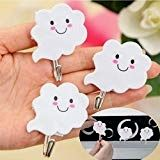 Agordo Light Towel Hook Kitchen Smiling Self Adhesive Pothook Hanger Hooks Sticky Towel Hangers For Bathroom, Towel Hooks, Bathroom Towels, Decorative Wall Hooks, Driftwood Furniture, Cloud Shapes, Hanger Hooks, Dream Furniture, White Towels