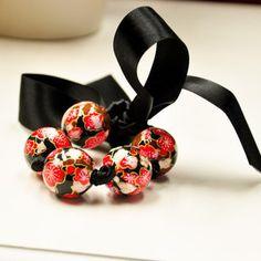 Paper Bracelet/Necklace - Black Cherry