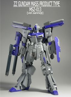 HGUC 1/144 ZZ Mass Production type customized build - Gundam Kits Collection News and Reviews