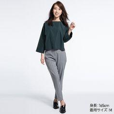 Tシャツ感覚で気軽に着られて、上品に魅せるTブラウスです。着心地なめらかで風合いも美しいエクストラファインコットンを使いました。ボックスシルエットやボートネックで、1枚でも女性らしく着こなせるのが魅力。ハイウエストボトムスと合わせやすく、トレンドのスタイリングを楽しめる1枚です。