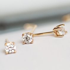 Items similar to Rose Gold Earring Gold Stud Earrings Gold Earring Stud Earring Diamond Earrings Diamond Stud Earrings Gold Earrings on Etsy 18k Gold Earrings, Stud Earrings, Gold Heart Ring, Gold Studs, Wedding Jewelry, Jewels, Unique Jewelry, Handmade Gifts, Vintage