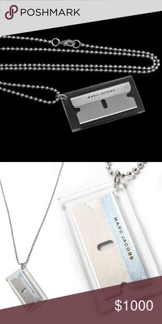 ISO!! Marc Jacobs razor blade necklace Majorly ISO Marc by Marc Jacobs razor blade necklace!! I know some of you lovely Poshers have one stashed away you've never worn and I'd LOVE to buy it!!!  Thanks! Marc by Marc Jacobs Jewelry Necklaces