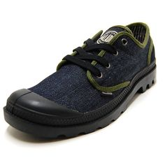 24d4b81ca PALLADIUM Palladium mens sneakers Pampa Ox Binding Pampa Oxford binding  Navy Denim Black 03312-