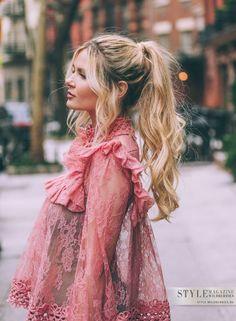 Носим стильно: Кружевная блузка