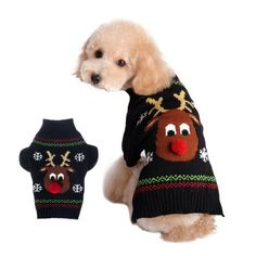 Cheap dog sweater, Buy Quality pet sweater directly from China dog clothes sweater Suppliers: Dogs Sweaters Pet Clothes Small Dog Coat Jacket For Dachshunds Chihuahua Reindeer Costume Dog Clothes Hot Sale Christmas Gift Large Dog Clothes, Small Dog Coats, Pet Clothes, Dog Clothing, Small Dogs, Large Dogs, Christmas Animals, Christmas Dog, Christmas Sweaters