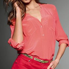 Pink Silk Top = Want