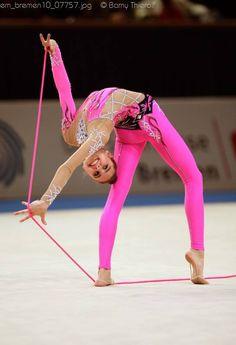 pink rythmic gymnastics