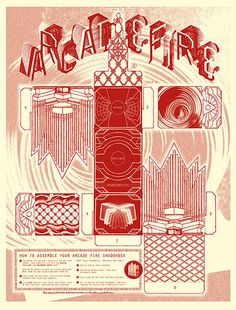 Arcade Fire Poster, MidAmerican Tour Side 1 by The Pressure™, via Flickr