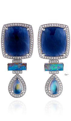 Dana Rebecca ● PreFall 2014, Blue Sapphire And Diamond Earrings