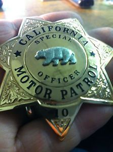 Special Officer Badge | ... about VINTAGE CALIFORNIA MOTOR PATROL SPECIAL OFFICER BADGE OBSOLETE
