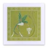Jayne's Hummingbirds & Trumpet Lilies A5 Square Groovi Plate Set – Claritystamp Clarity Card, Trumpet Lily, Embossing Tool, Clever Design, Hummingbirds, Plate Sets, Lilies, A5, Plates