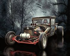 Rat Rod And Moon