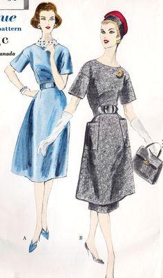 1950s One piece dress or tunic dress