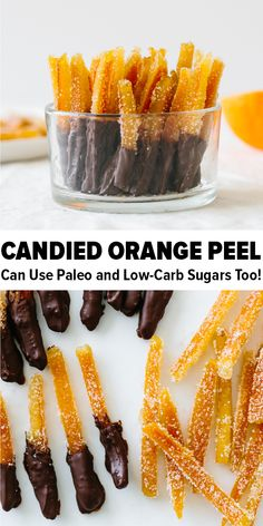 Candied orange peel is the perfect sweet treat with a burst of orange flavor. Orange peels are boiled in a simple syrup until slightly tran. Keto Brownies, Candied Orange Peel, Candied Fruit, Candied Orange Slices, Candied Lemon Peel, Dried Orange Peel, Dried Oranges, Dried Fruit, Candy Recipes