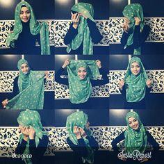 ♥ Muslimah fashion & hijab style #hijabtutorial