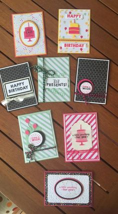 Quick & Easy cards using Party Wishes Bundle