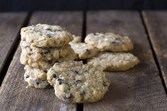 """Grain-free low carb """"oatmeal"""" cookies, just like Grandma used to make! Okay, not exactly, but a healthy stand in for oats makes these cookies taste like the real thing. Okay, you caught me. There i…"""