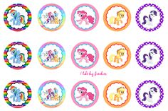 My Little Pony bottlecap images for hairbows/pendants