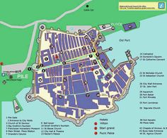 Dubrovnik old town map. Dubrovnik tourist office