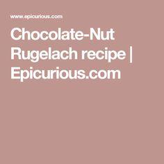 Chocolate-Nut Rugelach recipe | Epicurious.com