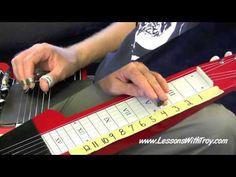 Lap Steel Lessons - Volume - [HD] Part B - by Troy Brenningmeyer Cigar Box Guitar, Guitar Diy, Guitar Chords, Pedal Steel Guitar, Resonator Guitar, Slide Guitar, Mandolin, Sound Of Music, Guitar Lessons