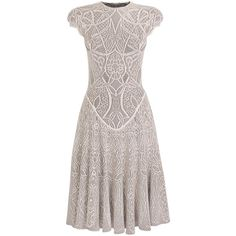 Ivory Celtic Lace Knit Dress. Would love something like this for bridesmaid dresses. And this one is sort of a Mithril silver.