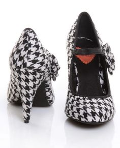 One can't go wrong with houndstooth. Rocket Dog Osaka Wide Houndstooth Fabric Pumps. $53