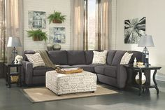 Shop for the Vendor 3 Alenya - Charcoal Sectional with Left Loveseat at Becker Furniture World - Your Twin Cities, Minneapolis, St. Living Room Sets, Living Room Furniture, Living Room Designs, Home Furniture, Living Room Decor, Living Area, Furniture Outlet, Furniture Stores, Office Furniture