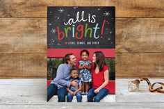 Brightest Year Holiday Photo Cards by Abby Munn at minted.com