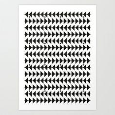 Black & White Art Print by C Designz - $17.68