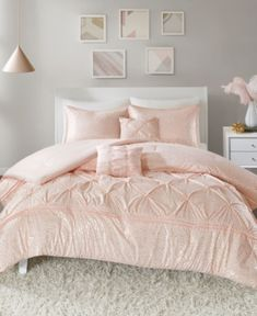 As Is Chenille Bedspread Solid Pink Color W/ Design