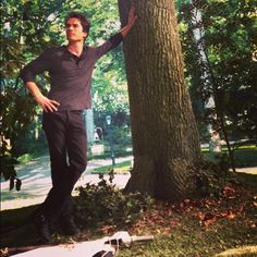 Ian Somerhalder - 27/11/13 - Handling some #GMB/grownmanbusiness today from the warm Salvatore front yard... Being grateful for so many things-including the artistry of this bad-ass set design that's inside,not out in the cold... Photo Cred:Vampire Diaries Cinematographer turned fearless Director Darren Genet http://instagram.com/p/hOu6IwKJ1W/ - Twitter & Instagram Pictures http://instagram.com/iansomerhalder/#