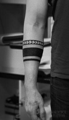 Tattoo Ruslan Gornefer - tattoo's photo In the style Ornamental, Ornamen Black Band Tattoo, Band Tattoos For Men, Wrist Band Tattoo, Wrist Tattoos For Guys, Black Ink Tattoos, Body Art Tattoos, Tribal Forearm Tattoos, Armband Tattoos, Armband Tattoo Design