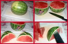 The Less Messy Way to Cut a Watermelon- great idea to get that watermelon cut quickly!