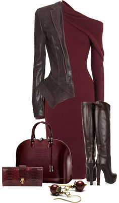 """""""Gucci Leather Knee Boots II"""" by butterflykisses ❤ liked on Polyvore"""