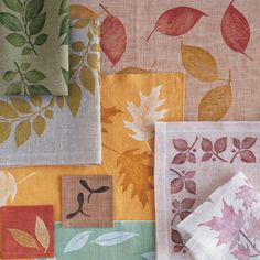 Bring the autumn season right to your Thanksgiving table by printing leaves onto cloth, creating random patterns or a stylized design.