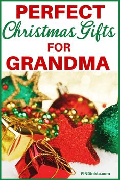 Wondering what to buy your grandma for Christmas?  Delight her with the perfect present!  See 50+ awesome gifts for Grandma at Christmas - prices start at under $15.  Shop now!