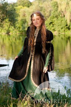 Mittelalterliche Fantasy-Kleid und Mantel Set von armstreet auf Etsy