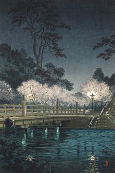 Benkei Bridge Tsuchiya Kōitsu (Japan, 1870-1949) Japan, April 1942 Prints; woodcuts Color woodblock print Image: 14 1/4 x 9 1/2 in. (36.2 x 24.13 cm); Sheet: 15 5/8 x 10 1/2 in. (39.69 x 26.67 cm) Gift of Chuck Bowdlear, Ph.D., and John Borozan, M.A. (M.2000.105.26) Japanese Art