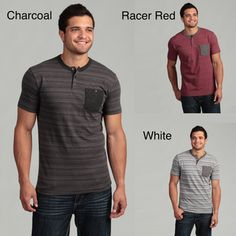 @Overstock - Classic stripes define this handsome henley tee from Company 81. Short sleeves and a three-button crew neck finish this tee.http://www.overstock.com/Clothing-Shoes/Company-81-Mens-Striped-Henley-Tee/6626866/product.html?CID=214117 $21.99