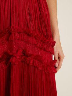 Kalina halterneck silk-mousseline gown | Maria Lucia Hohan | MATCHESFASHION.COM