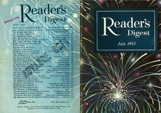 Reader's digest has a cohesive front and back cover; they achieved this by using a Panama photo for the front and pack cover. On the front cover they have the name of the magazine and they month and year. On the back of the magazine, they have a blue rectangle as a back drop for their text that has a low opacity so that the viewer can still see the picture of the firework behind it. The back cover has article titles from the inside of the book to pull the reader into the book. It achieves…