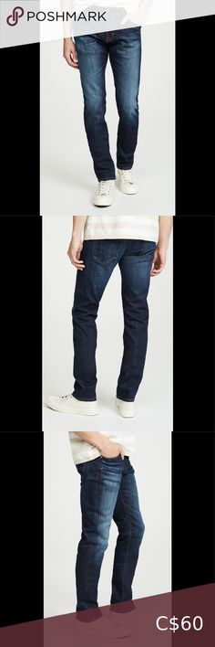 "ADRIANO GOLDSCHMIED AGDarkProtege StraightLeg31x34 Excellent Used Condition Men's dark wash ""The Protege"" Straight Leg denim jeans by AG Adriano Goldschmied Men's size 31X34 *Happy to provide measurements upon request Ag Adriano Goldschmied Jeans Straight Denim Jeans, Skinny Jeans, Twill Pants, Adriano Goldschmied Jeans, Wool Skirts, Black Adidas, Brown And Grey, Man Shop, Dark"