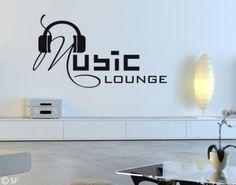Wandtattoo Music Lounge - nicht nur für Musik-Liebhaber. Passt nicht nur in das Wohnzimmer.