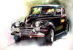 classic watercolor paintings | HOME | STILL LIFE | NATURE | FLOWER | AUTOMOBILE
